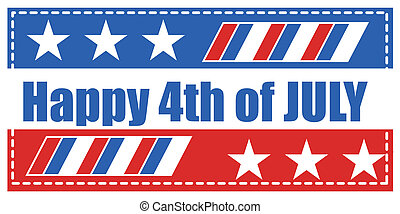 happy 4th of july background Vector - happy 4th of july...