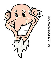 old funny wicked man vector face
