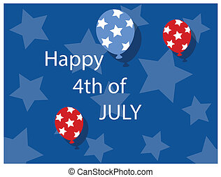 background - 4th of july vector