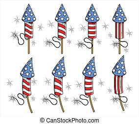 USA Freedom celebration fireworks