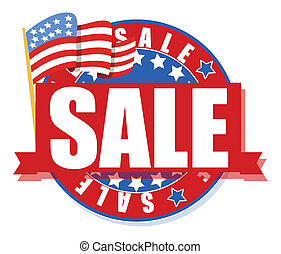 freedom day sale - 4th of july vector illustration