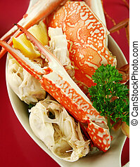 Fresh Cracked Sand Crab - Cracked sand crab with lemon ready...
