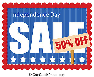 coupon sale - 4th of july vector illustration