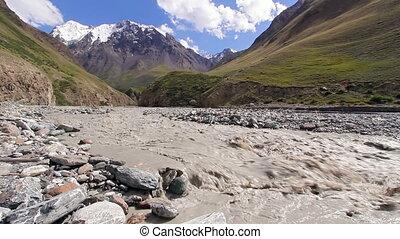 White mountain river Atdzhaylyau - White mountain river....