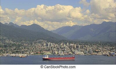 Scenic View of North Vancouver BC - Urban Scenic View of...