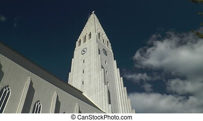 Hallgrimskirkja church in Reykjavik - Tower of the...
