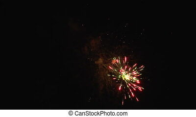 spectacular real fireworks HD again - spectacular colourful...