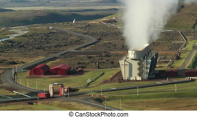 Krafla Geothermal Power Staion - Krafla Power Station in...
