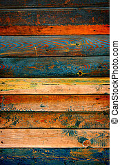 Wooden Planks Background - Pattern of the wood plank...