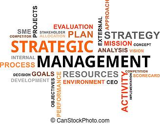 mot, nuage, -, stratégique, gestion