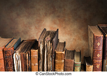 Old books with copy space
