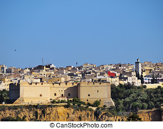 Castle in Fes - Northern Fortress in Old Medina of Fes el...