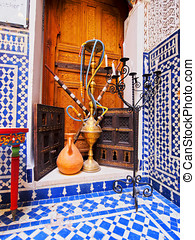 Moroccan Shisha - Typical Moroccan Shisha on the old medina...