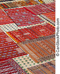 Moroccan Carpets - Typical Moroccan Carpets on the roof...