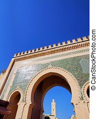 Bab Boujelud Gate in Fes, Morocco - Bab Boujelud Gate to the...