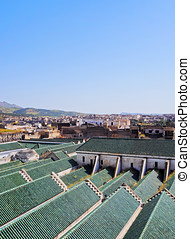 University of al-Karaouine in Fes, Morocco - Roof of the...