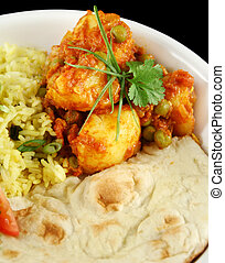 Indian Vegetarian Curry - Indian pea and potato curry with...