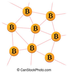 Open-source money Bitcoin - Illustration of open-source...