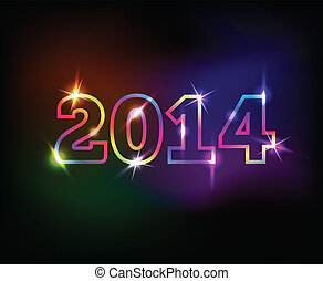 2014 year colorful background