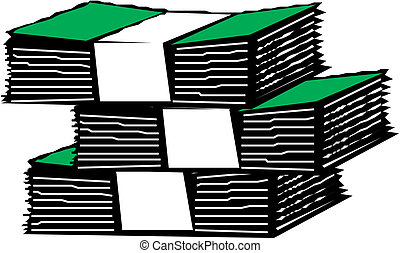 money packs vector illustration