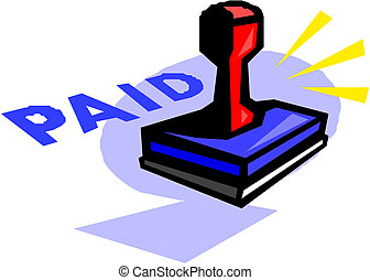 Grunge paid rubber stamp, vector illustration