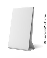 Plastic white ad plate  isolated on a white background