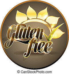 Gluten free sign - Gluten free symbol Bold and bright
