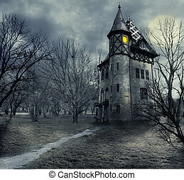 Haunted house - Halloween design with haunted house
