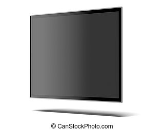 wide screen TV isolated on a white background