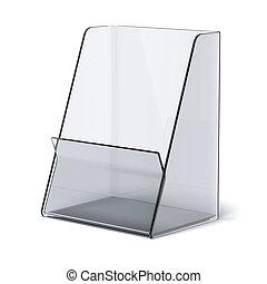 transparent holder for leaflets