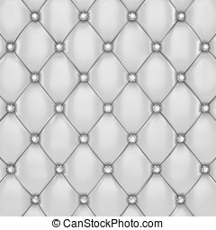 Luxury upholstery - White upholstery pattern with diamond...