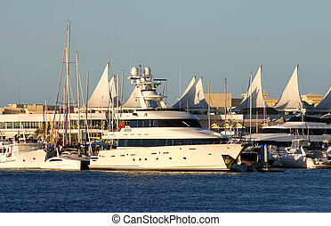 Superyacht On The Gold Coast - Superyacht at berth at Marina...