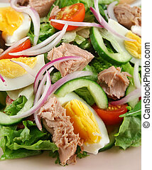 Tossed Tuna And Egg Salad