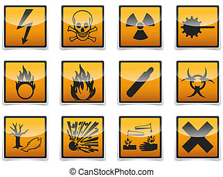 Danger symbols icon - Isolated Danger, hazard sign, icon...