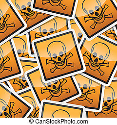 sticker-danger-symbols - Danger, hazard sign, icon sticker...