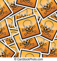 sticker-danger-symbols - Danger, hazard sign, icon sticker...