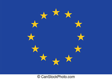 EU flag - European union flag