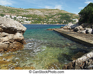 Small dock in Lokrum island, Croatia