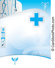 Abstract medical design template - Abstract blue medical...