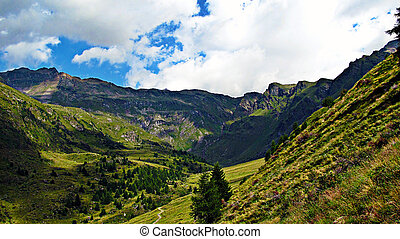 View on a Mountain Hollow - Italian Alps - A panoramic view...