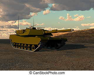 War Tank - A armoured tank for war concepts.