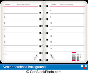 vector notebook background - Illustration of vector notebook...