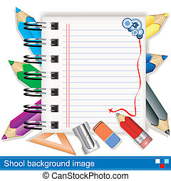 vector school background image - Illustration of vector...