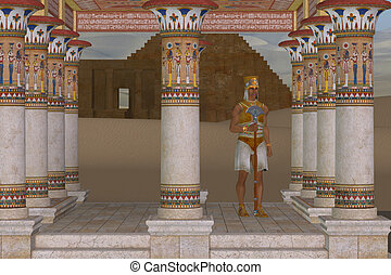 Man in Egyptian Clothes - A royal servant guards a palace...