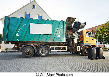 Urban recycling waste and garbage services - recycling...