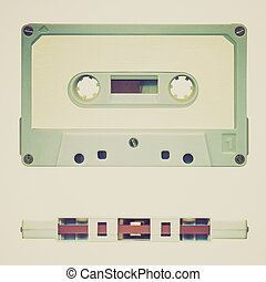 Retro look Tape cassette - Vintage looking Magnetic audio...
