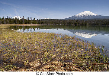 The Oregon High Cascade Range has Multiple Peaks over 9,000...