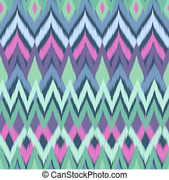 soft auqa blue ikat - seamless vector background