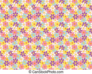 soft color flowers pattern - abstract seamless soft color...