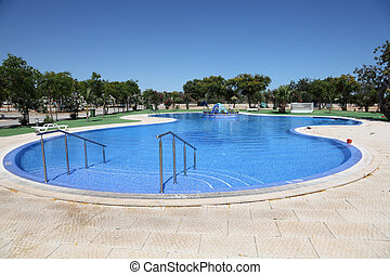 Large swimming pool in Portugal